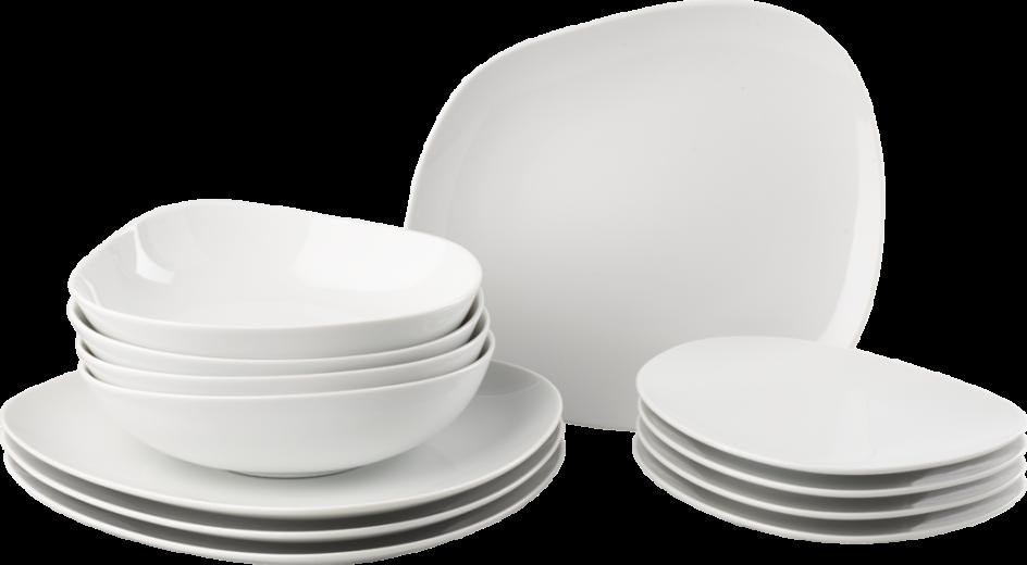 Set 12 Boluri White Basics Sake Cup Alb Portelan o55 cm